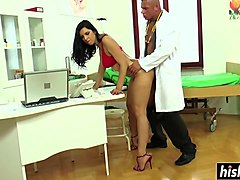 horny doctor gets to fuck hot kira