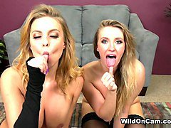 Britney Amber & Harley Jade in Feeling Those Vibrations - WildOnCam