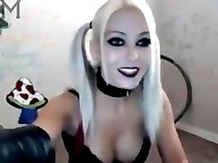Webcam girl with harley cosplay hafe fun
