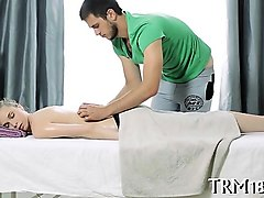 delightful masseur is plowing delightful babe's cunt wildly