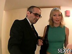 excited aged teacher is seducing babe's lusty beaver